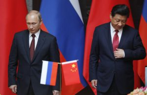 Russia's President Putin and China's President Xi attend an agreement signing ceremony during a bilateral meeting at Xijiao State Guesthouse ahead of the fourth CICA summit, in Shanghai
